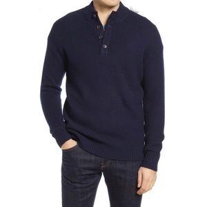 Peter Millar Merino Wool Blend Mock Neck Sweater